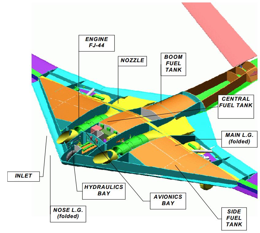 이스라엘의 상승단계 요격용 무인기 HA-10의 내부 구조